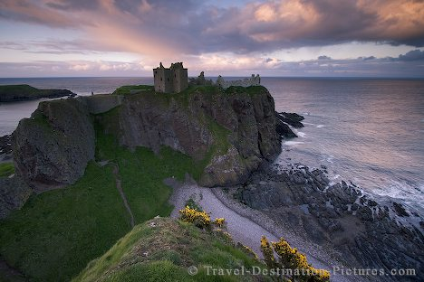 Sunset light at Dunnottar Castle, Aberdeenshire